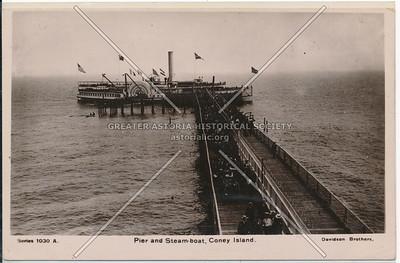 Pier and Steam-boat, Coney Island
