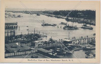 Bird's-Eye View of Bay, Manhattan Beach, N.Y.