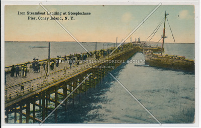 Iron Steamboat Landing at Steeplechase Pier, Coney Island, N.Y.