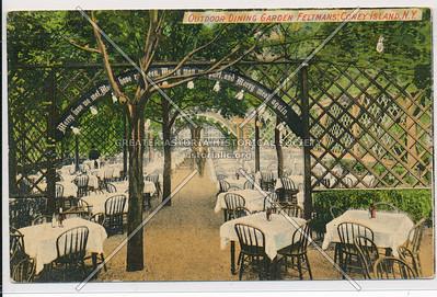 Outdoor Dining Garden, Feltmans', Coney Island, N.Y.