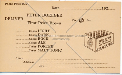 Peter Doelger, Deliver First Prize Brews