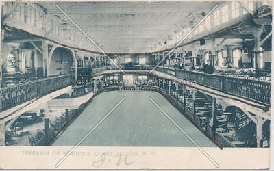 Interior Of Stauch's. Coney Island, N.Y.