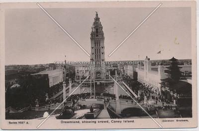 Dreamland, showing crowd, Coney Island