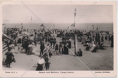 Beach and Bathers, Coney Island