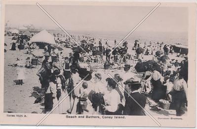 Beach and Bathers, Coney Island