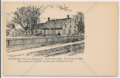 Lott homestead, Flatbush and Newkirk Aves.