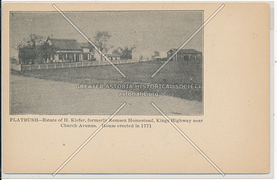 Remsen Homestead, Kings Hwy near Church Ave
