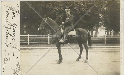 Mounted police, Linden Ave., Flatbush BK