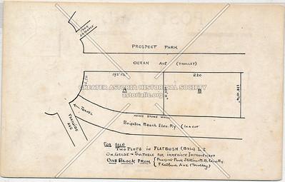 Prospect Park RR station, building plots