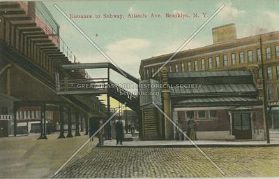 Entrance to Subway, Atlantic Ave., Brooklyn, N.Y.