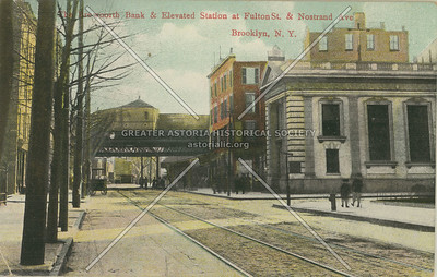 The Brevoort Bank & Elevated Station at Fulton St. & Nostrand Ave., Brooklyn, N.Y.