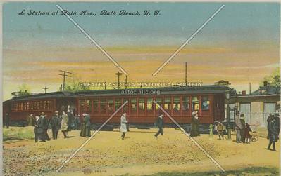 L Station at Bath Ave., Bath Beach, N.Y.