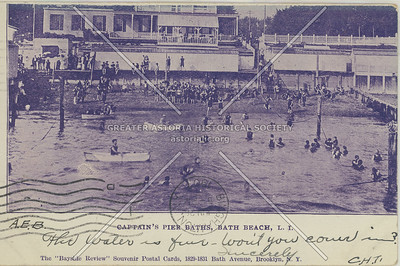 Captain's Pier Baths, Bath Beach, L.I.