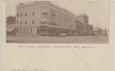 Bath Avenue, Principal Thoroughfare, Bath Beach, L.I.