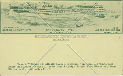 Fort Lowry Hotel, Bath Beach, L.I.N.Y.