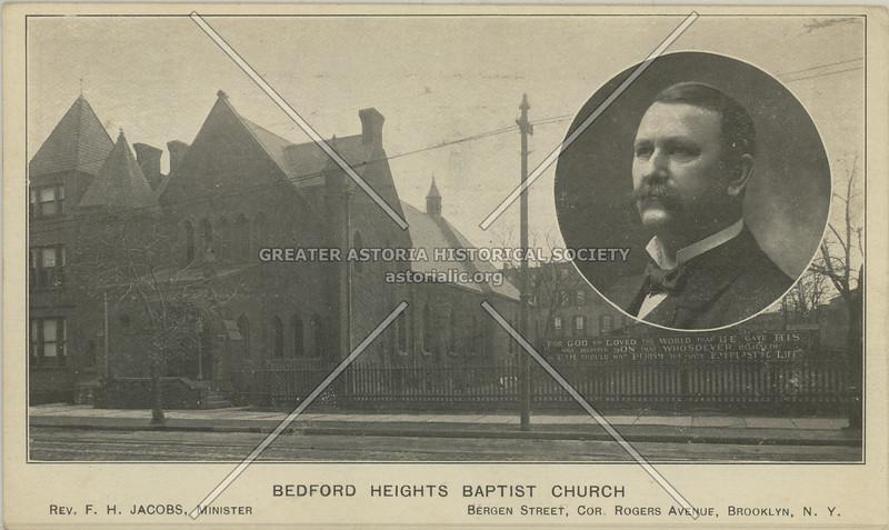 Bedford Heights Baptist Church, Bergen Street., Cor. Rogers Avenue, Brooklyn, N.Y.