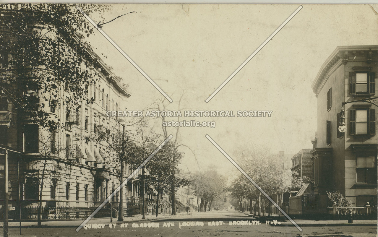 Quincy St. At Classon Ave. Looking East, Brooklyn, N.Y.