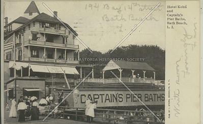 Hotel Kohn and Captain's Pier Baths, Bath Beach, L.I.