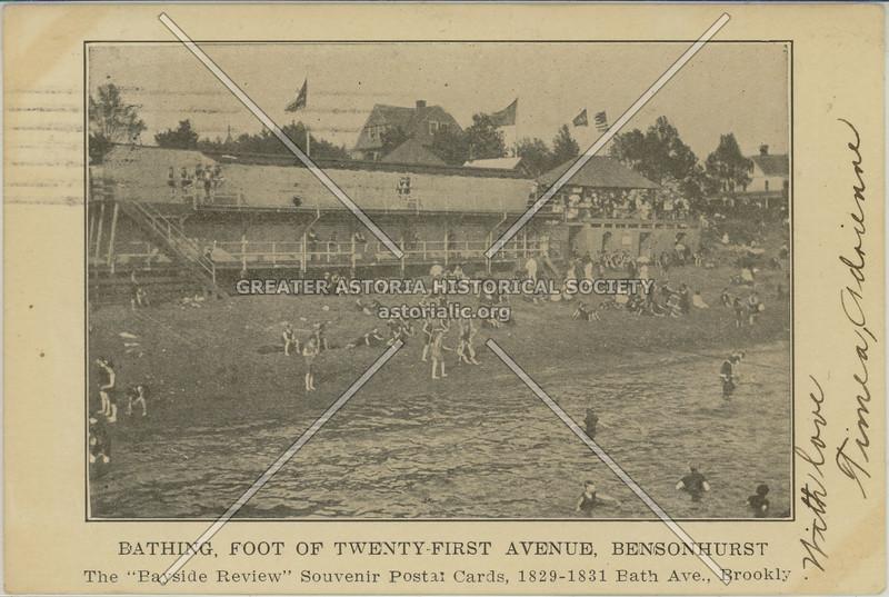Bathing, Foot Of Twenty-First Avenue, Bensonhurst
