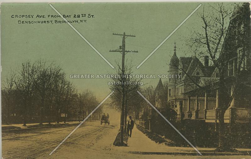 Cropsey Ave. From Bay 28th St. Bensonhurst, Brooklyn, N.Y.