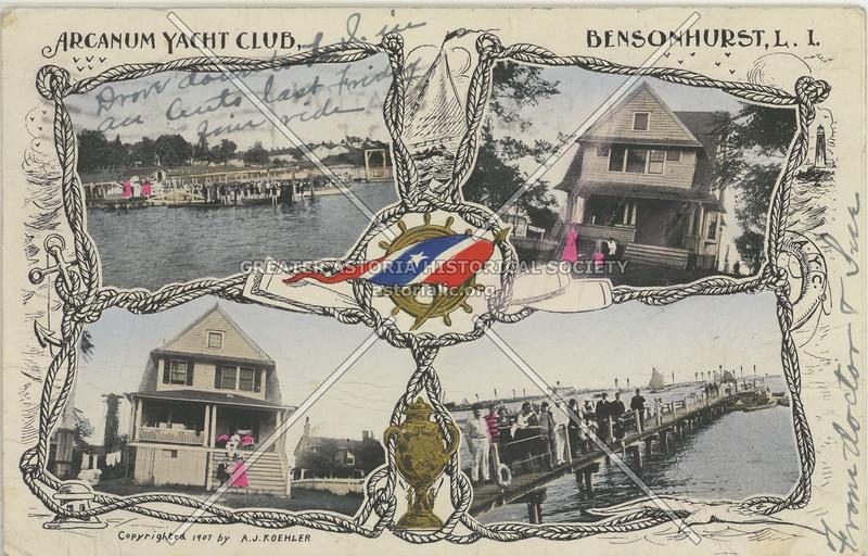 Arcanum Yacht Club, Bensonhurst, L.I. (1908)