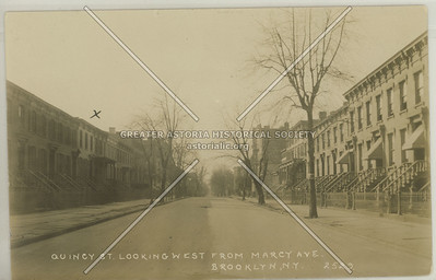 Quincy St., Looking West From Marcy Ave., Brooklyn, N.Y.