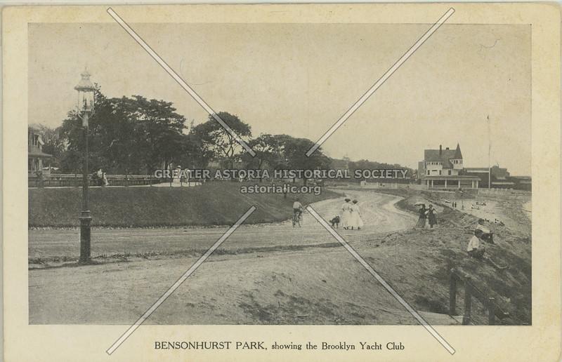 Bensonhurst Park, showing the Brooklyn Yacht Club