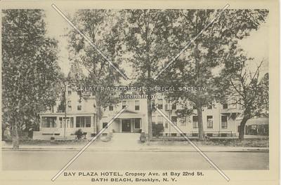Bay Plaza Hotel, Cropsey Ave. at Bay 22nd St., Bath Beach, Brooklyn, N.Y.
