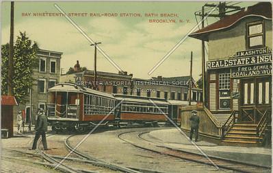 Bay Nineteenth Street Rail-Road Station, Bath Beach, Brooklyn, N.Y.