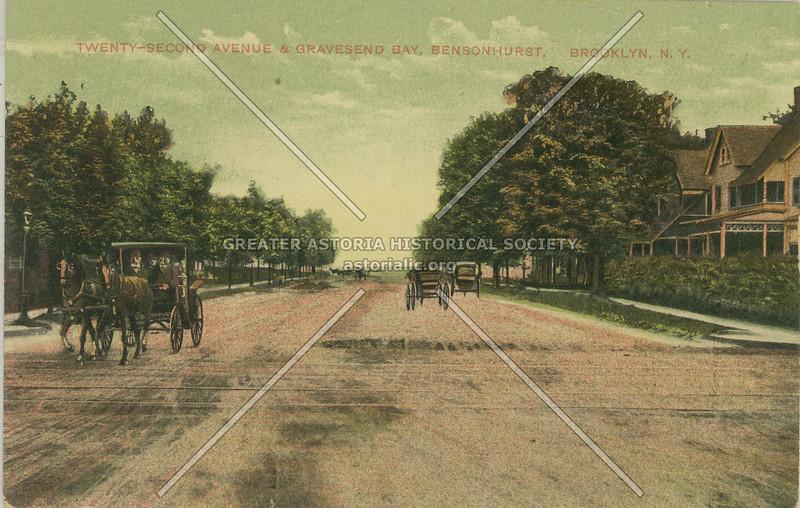 Twenty-Second Avenue (Bay Parkway) & Gravesend Bay, Bensonhurst, Brooklyn, N.Y.
