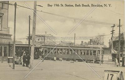 Bay 19th St. Station, Bath Beach, Brooklyn, N.Y.