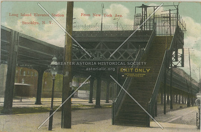 Long Island Elevated Station From New York Ave., Brooklyn, N.Y.