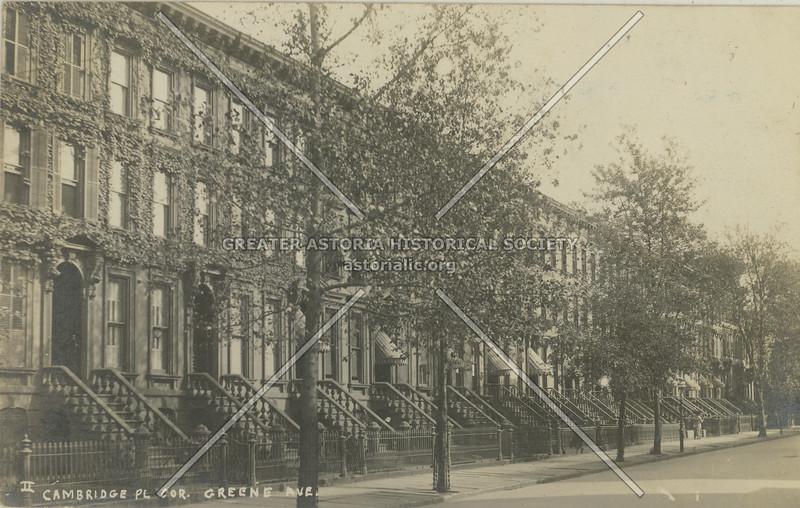 Cambridge Pl. Cor. Greene Ave.
