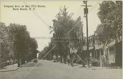 Cropsey Ave. at Bay 17th Street, Bath Beach, N.Y.