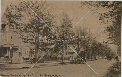 Cropsey Avenue at Bay 14th St., Bath Beach, N.Y.