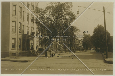 Quincy St., Looking East From Marcy Ave., Brooklyn, N.Y.