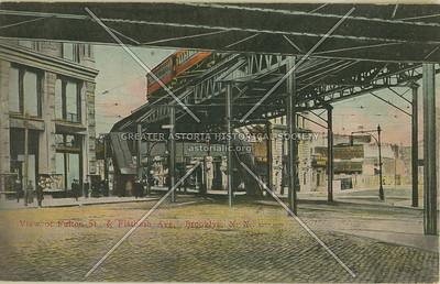 View of Fulton St., & Flatbush Ave., Brooklyn, N.Y.