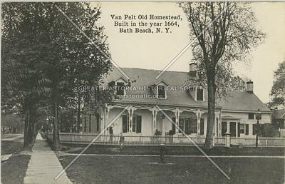 Van Pelt Old Homestead, Built in the year 1664, Bath Beach, N.Y.