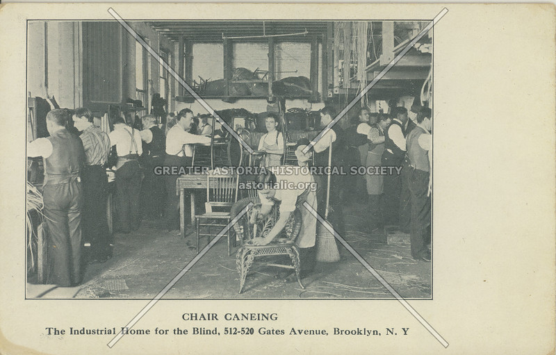 Chair Caneing, The Industrial Home For The Blind, 512-520 Gates Avenue, Brooklyn, N.Y.