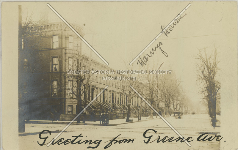 Greene Ave. looking E from Reid Ave, Bklyn