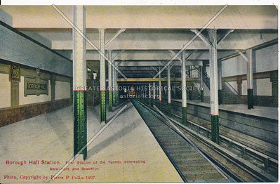 Borough Hall Station, First Station of the Tunnel, connecting New York and Brooklyn