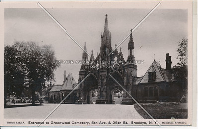 Entrance to Greenwood Cemetery, 5th Ave. & 25th St., BK.