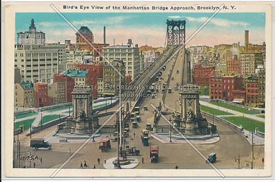Bird's Eye View of the Manhattan Bridge Approach, BK.