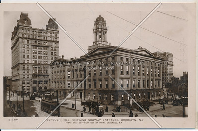 Borough Hall, Showing Subway Entrance, BK, N.Y.