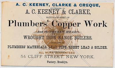 A.C. Keeney, Clarke & Creque, Successors To A.C. Keeney & Clarke, Manufacturers Of Plumber's Copper Work