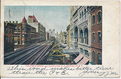 Fulton Street and Elevated R.R., BK.