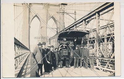 Cable Car on Brooklyn Bridge, BK.