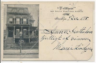 """""""Fridhem"""" 149 South Portland Avenue, BK."""