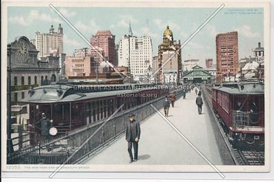 The New York End Of Brooklyn Bridge