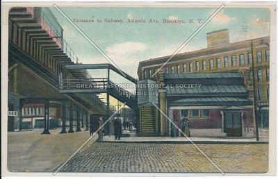 Entrance to Subway, Atlantic Ave., BK.